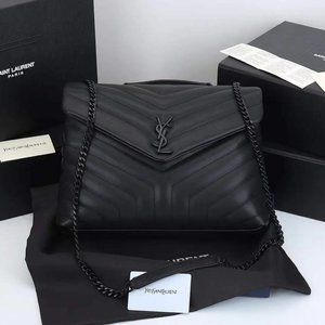 """NWT LOULOU TOY BAG IN MATELASSÉ """"Y"""" LEATHER"""